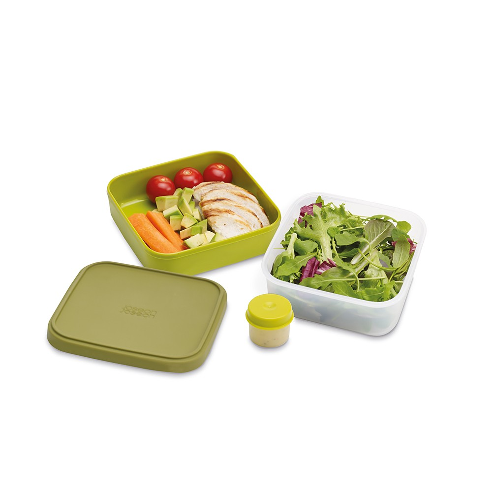 Зеленый ланч-бокс для салатов GoEat™