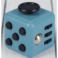 Кубик-антистресс Fidget cube (чёрные кнопки, цвет - серый)