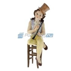 Фарфоровая статуэтка Девушка с флейтой от Sibania