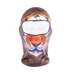 Лыжная маска-балаклава с рисунком Тигр