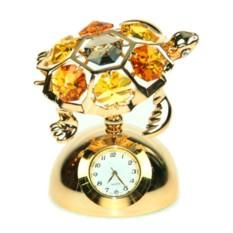 Декоративная фигурка Swarovski с часами Черепаха