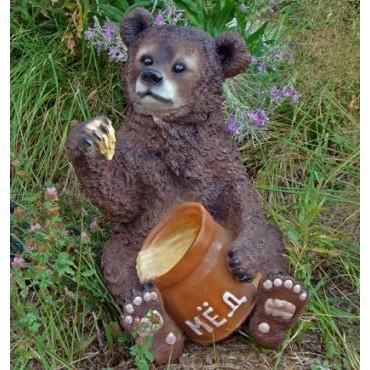 Садовая фигурка Медведь с мёдом