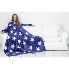 Плед с рукавами Sleepy Luxury Blue White Stars