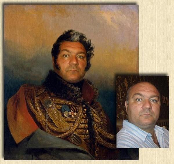 Портрет адмирала на холсте по фото