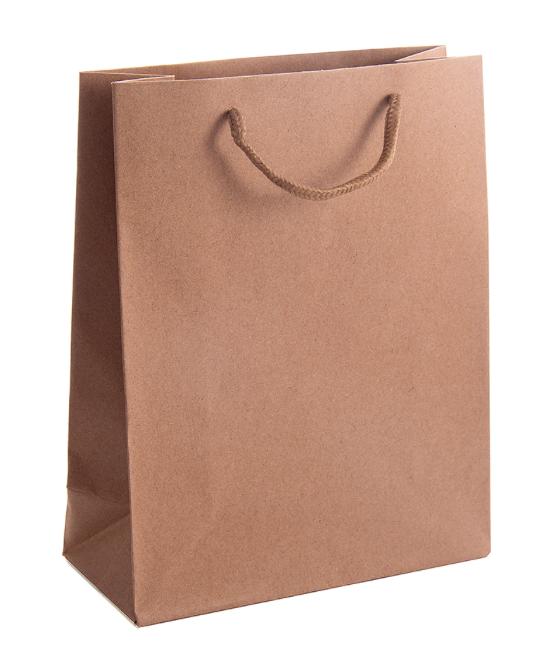 Подарочный пакет из крафт бумаги