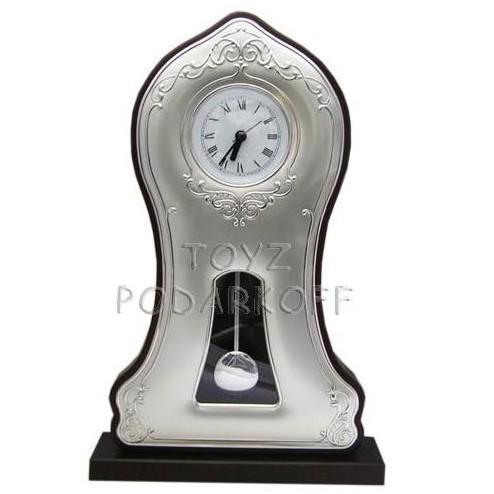 Часы Барокко с маятником (серебро)