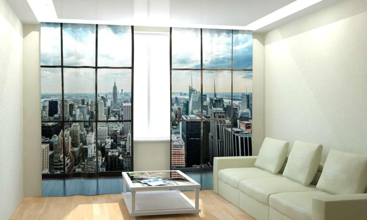 Фотошторы Окно на Манхеттен