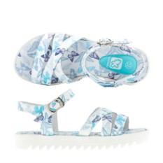 Бело-голубые босоножки для девочек Kakadu Бабочки