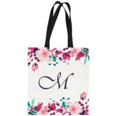 Именная сумка с вашей монограммой «Цветочная»