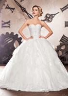 Свадебное платье с классическим корсетом, белое