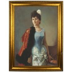 Портрет по фото на холсте Портрет дамы