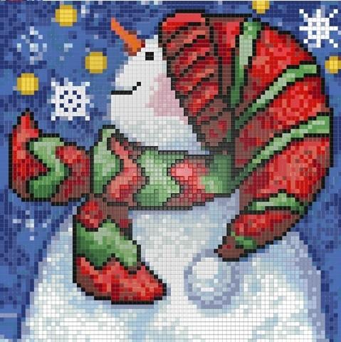Набор для вышивания Новогодний снеговик