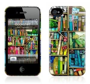 Чехол для iPhone 4/4S Gelaskins Bookshelf