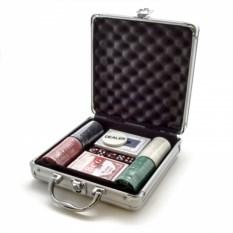 Набор для покера из 100 фишек в кейсе