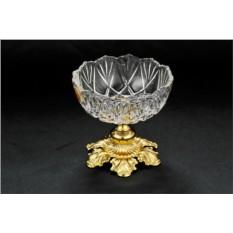 Хрустальная конфетница с золотым декором Metalbi