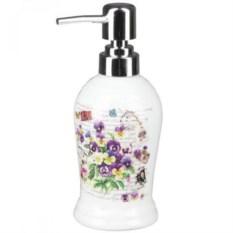 Керамический дозатор для жидкого мыла Фиалки