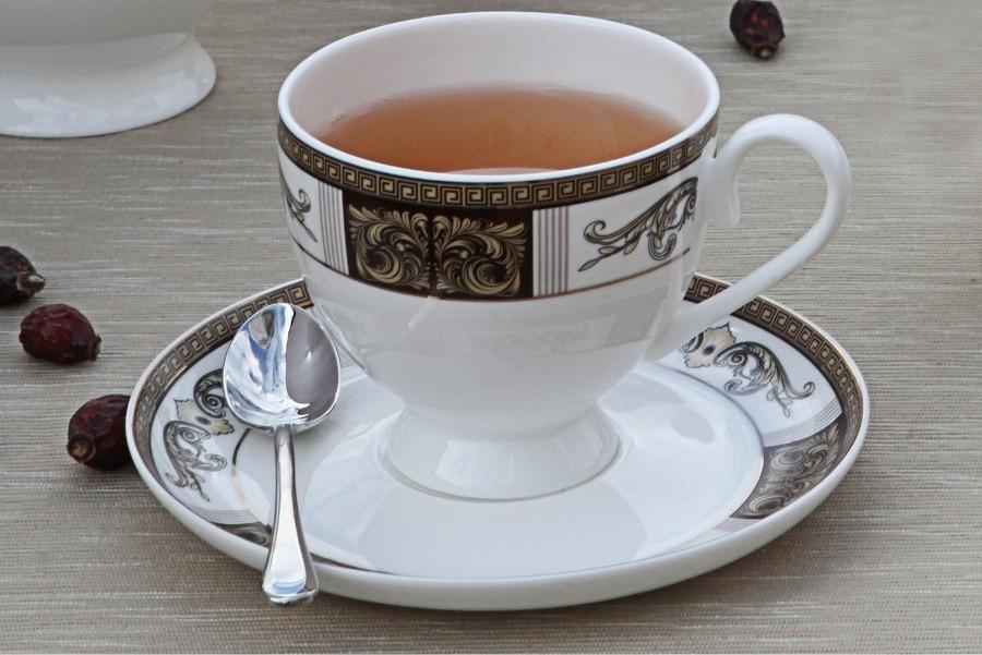 Чайный фарфоровый сервиз Антик на 15 предметов