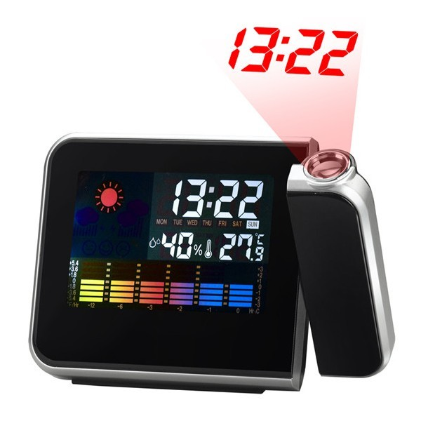 Проекционные часы-метеостанция LCD