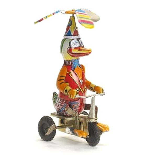 Игрушка -робот Утка на велосипеде