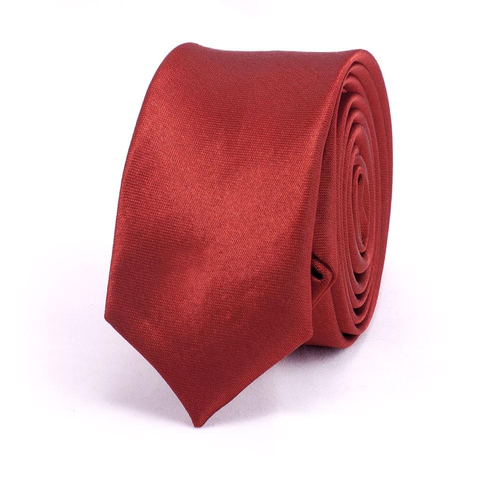 Супер узкий галстук (бордовый)