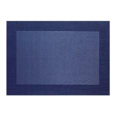 Темно-синяя салфетка с плетеными краями Table tops