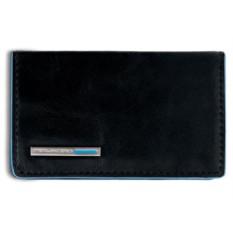 Черный кожаный футляр для визиток Piquadro Blue Square