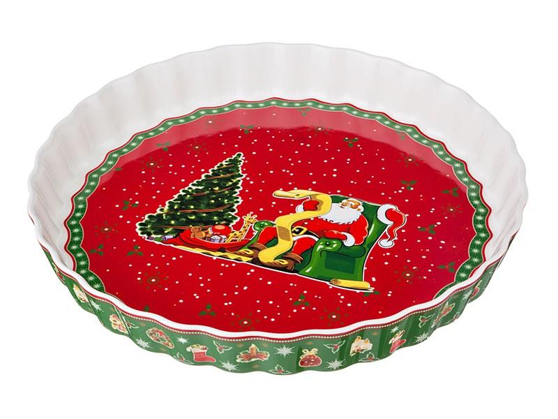 Блюдо диаметром 30 см Новый год