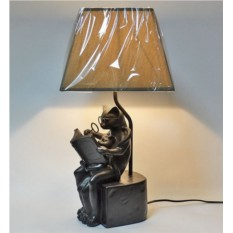 Настольная лампа Коты с книгой