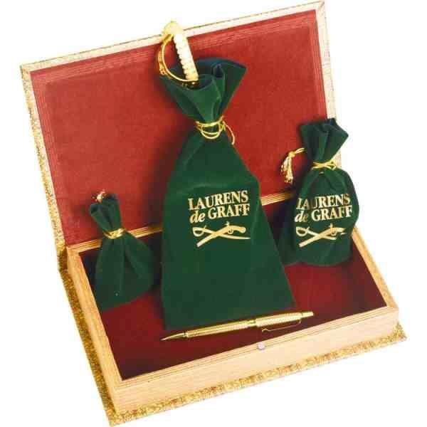 Набор Клипер: часы песочные, нож для бумаг, ручка шариковая, брелок-термометр