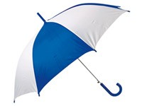 Белый с синим зонт-трость, полуавтоматический