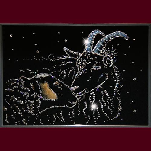 Картина со стразами Овечка и козел