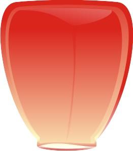 Небесный фонарик Красный конус 120см