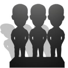 Статуэтка эксклюзивная по фото (3 человека)