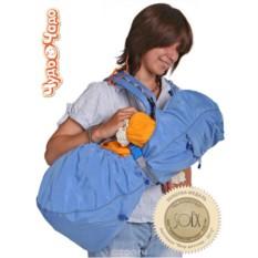 Голубой рюкзак-кенгуру BabyActive Lux