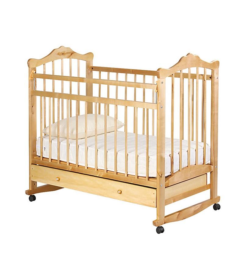 Кровать-качалка Любаша № 6, цвет: белый
