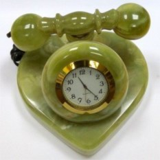 Настольные часы Телефон-сердце