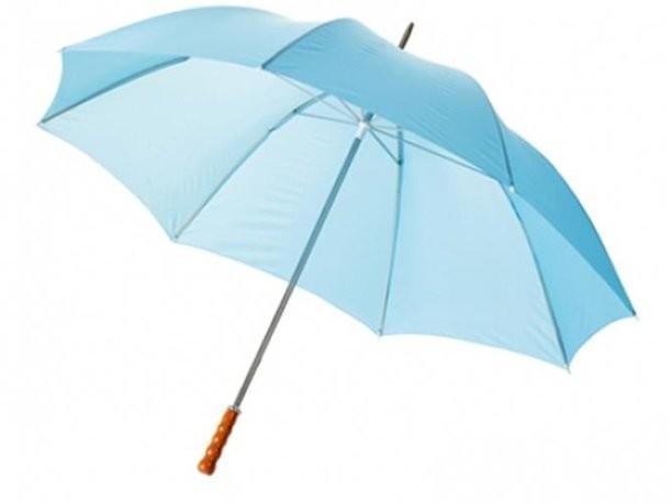 Зонт-трость голубого цвета