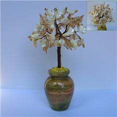 Дерево любви из перламутра в вазочка из оникса