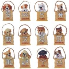 Магнит Собака в сумке со знаком зодиака 12 видов