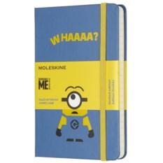 Голубая записная книжка в линейку Moleskine Minions Pocket