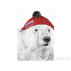 Мужская Футболка «Белый медведь»