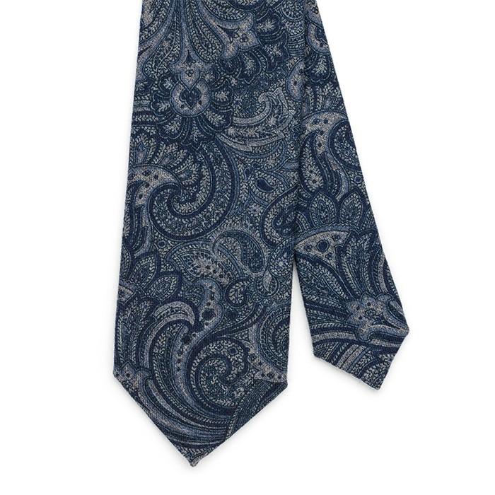 Галстук Fumagalli из шерсти, paisley, синий
