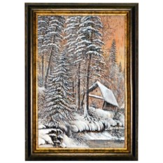 Картина из бересты Краса тайги