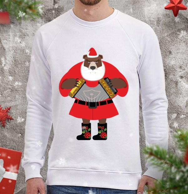 Свитшот Медведь - Дед Мороз