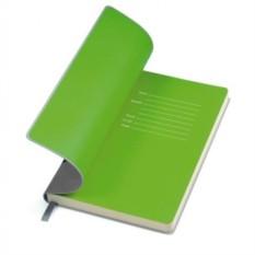 Серый бизнес-блокнот А5 Funky с зеленым форзацем