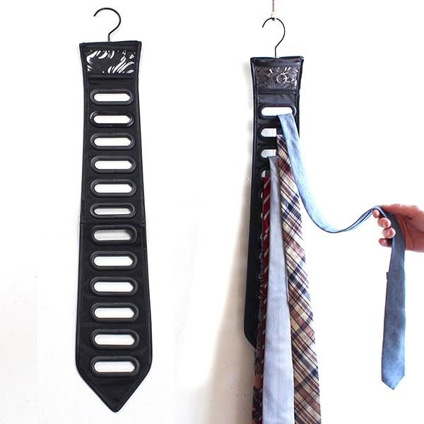 Черный органайзер для галстуков Black tie