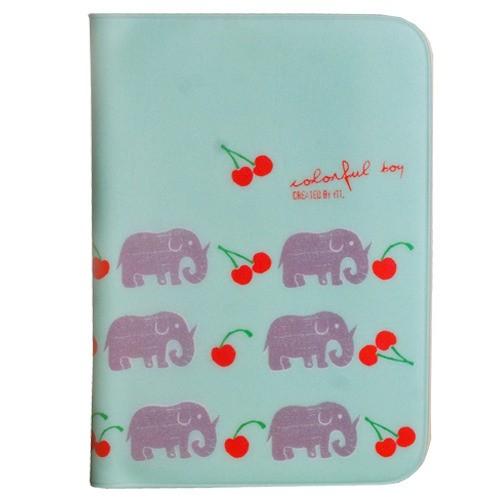 """Обложка для паспорта """"Слон в вишнях"""""""