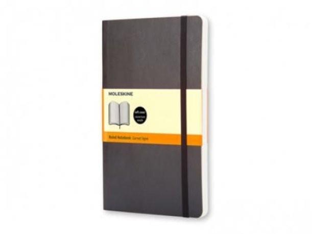 Записная книжка в линейку Moleskine Classic (цвет — черный)