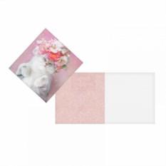Открытка-мини Кошка с цветами
