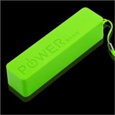 Зеленый внешний аккумулятор 2600 mAh POWER bank